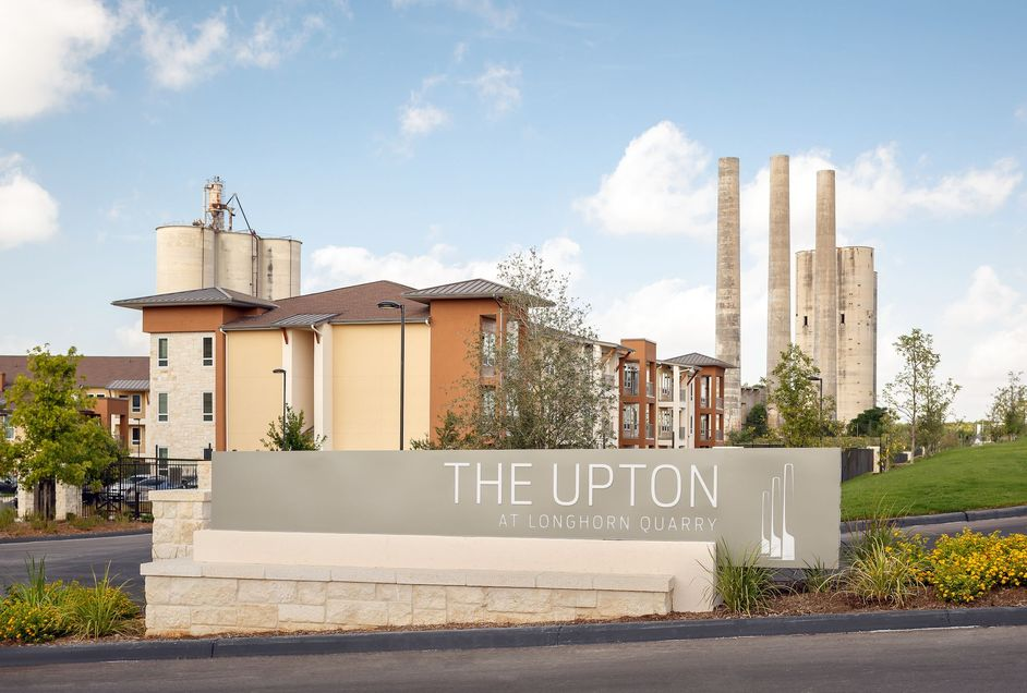 The Upton front sign